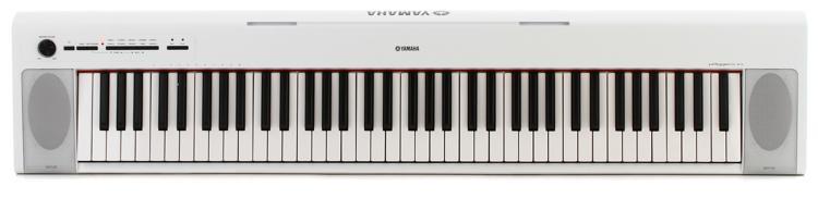 Yamaha Piaggero NP-32 76-key Piano with Speakers - White image 1