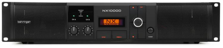 behringer nx1000d power amplifier with dsp sweetwater. Black Bedroom Furniture Sets. Home Design Ideas