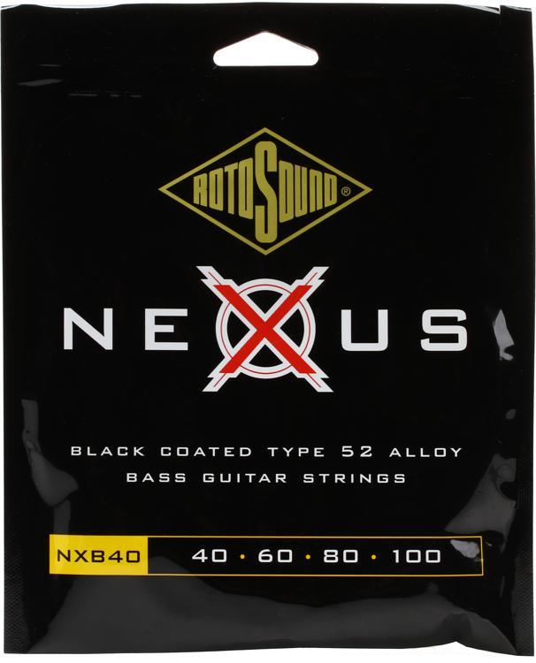 Rotosound NXB40 Nexus Bass Black Polymer Coated Long Scale Bass Strings image 1