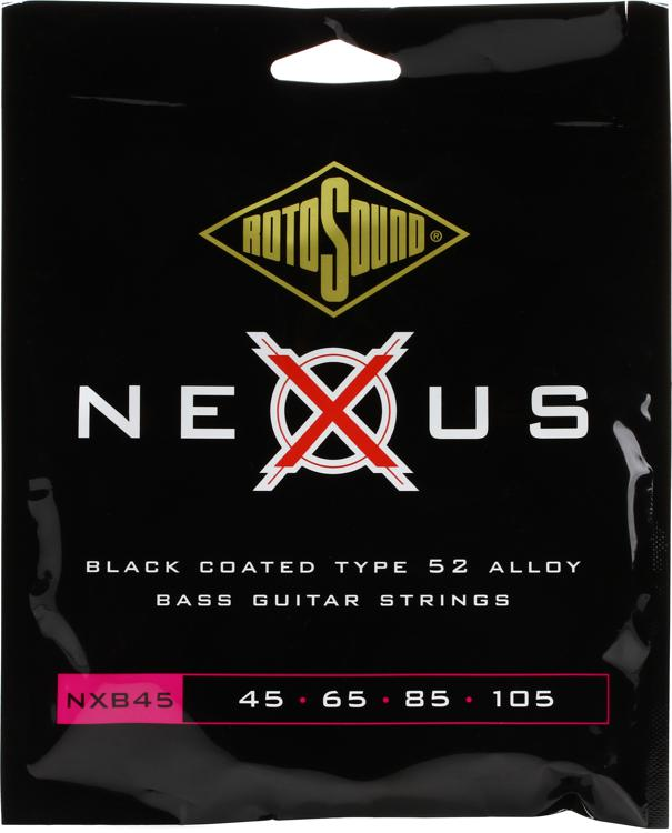 Rotosound NXB45 Nexus Bass Black Polymer Coated Long Scale Bass Strings image 1