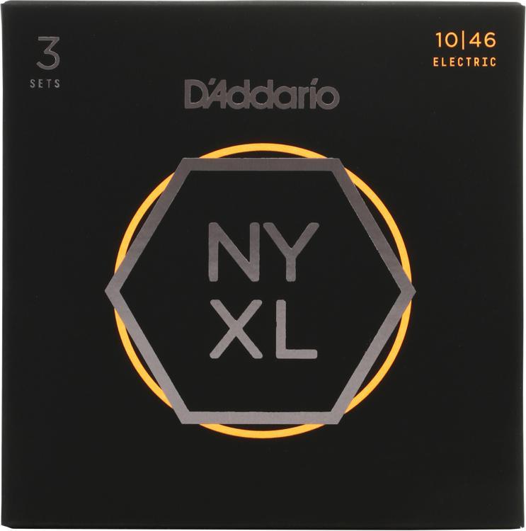 D\'Addario NYXL1046 Nickel Wound Electric Strings 3-Pack .010-.046 Regular Light 3-Pack image 1