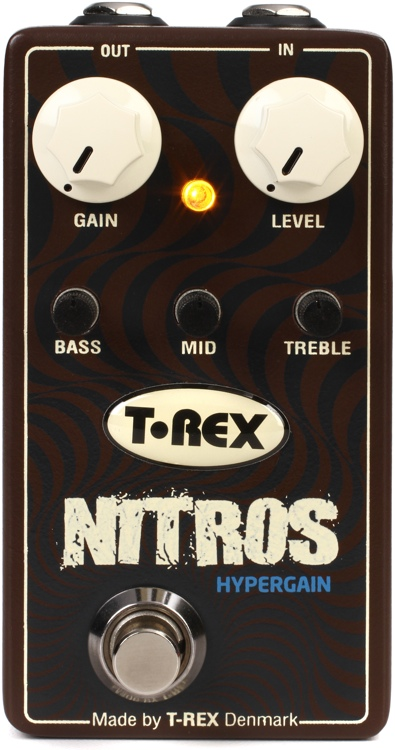 T-Rex Nitros Hypergain Distortion Pedal with Active 3-band EQ image 1