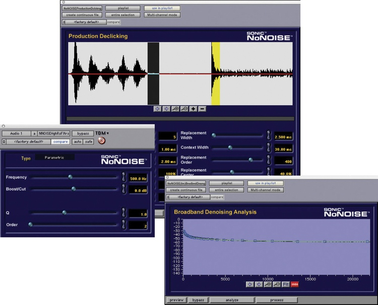 Sonic Solutions NoNOISE TDM Plug-in Suite image 1