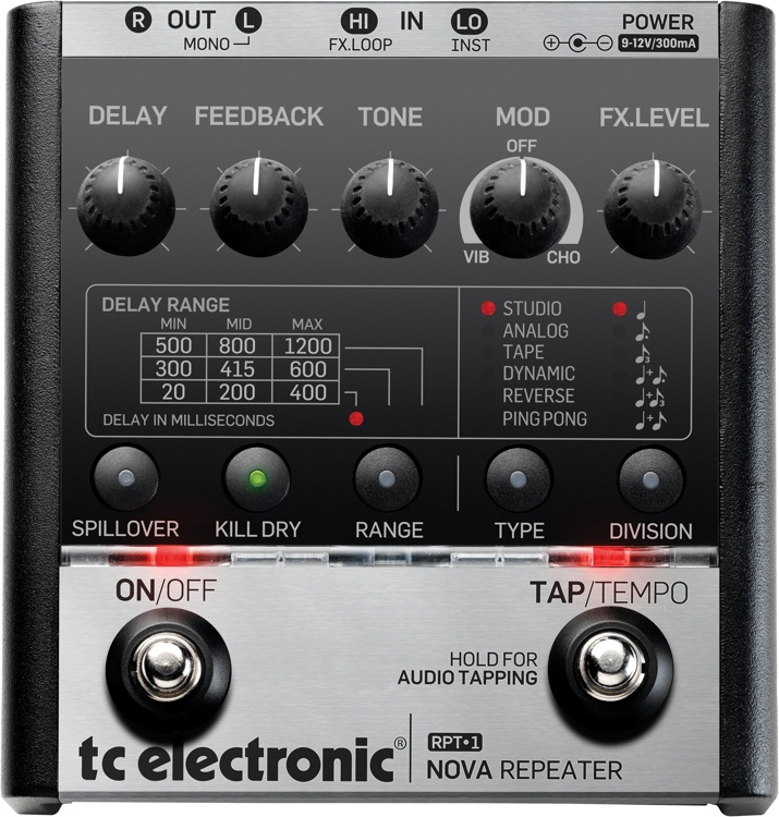 TC Electronic RPT-1 Nova Repeater Delay Pedal image 1