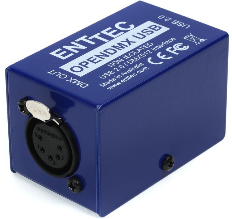 Ongebruikt ENTTEC Open DMX USB 512-Ch Non-Isolated DMX Interface | Sweetwater DT-05
