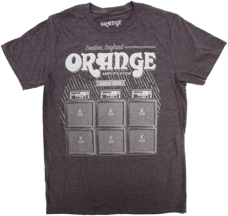 Orange Vintage T-Shirt, Gray, Small image 1