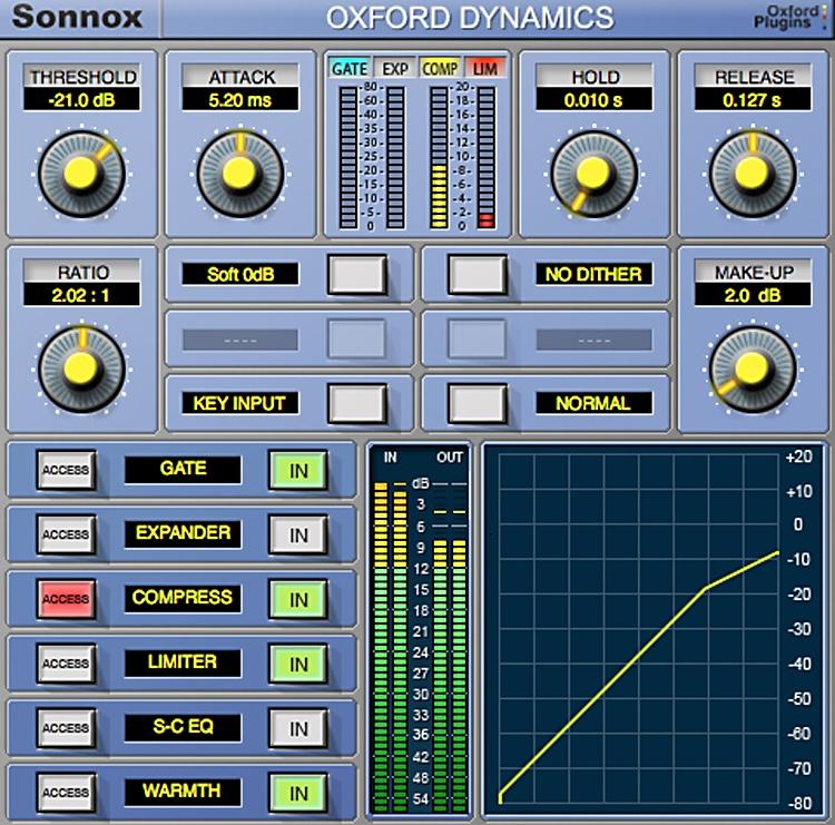 Sonnox Oxford Dynamics Plug-in - TDM to HD-HDX Exchange image 1