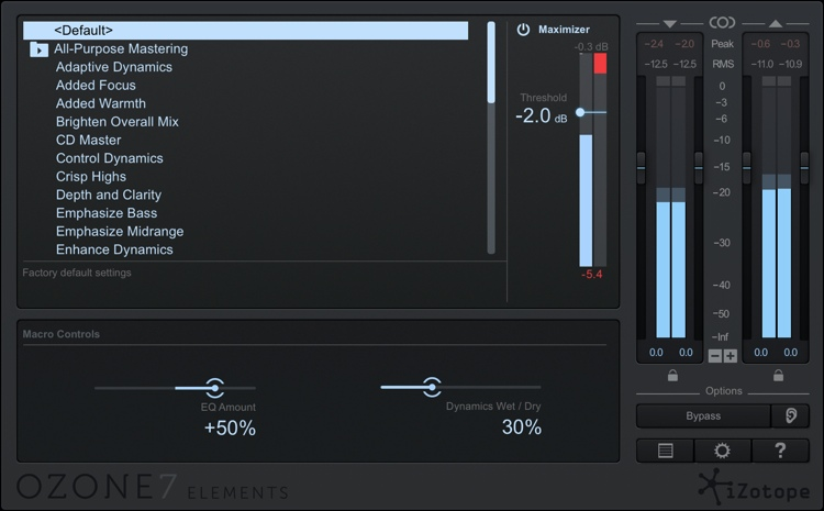 iZotope Ozone 7 Elements image 1