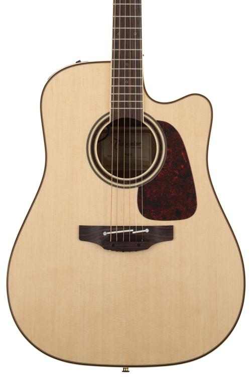 Takamine P4DC Dreadnought Acoustic/Electric w/Cutaway, Natural image 1