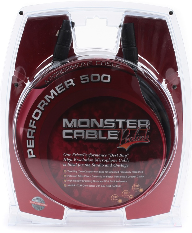 Monster Performer 500 Microphone Cable - 15\' image 1