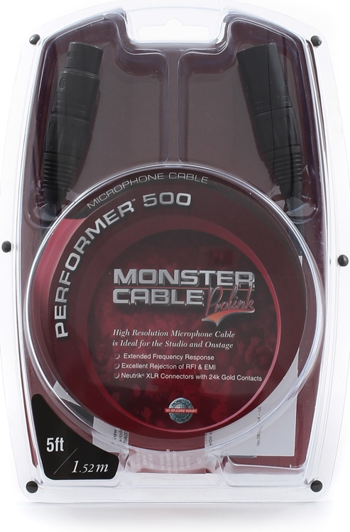 Monster Performer 500 Microphone Cable - 5\' image 1