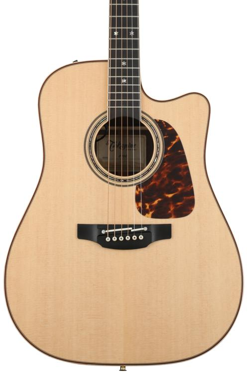 Takamine P7DC Dreadnought Acoustic/Electric w/Cutaway, Natural image 1