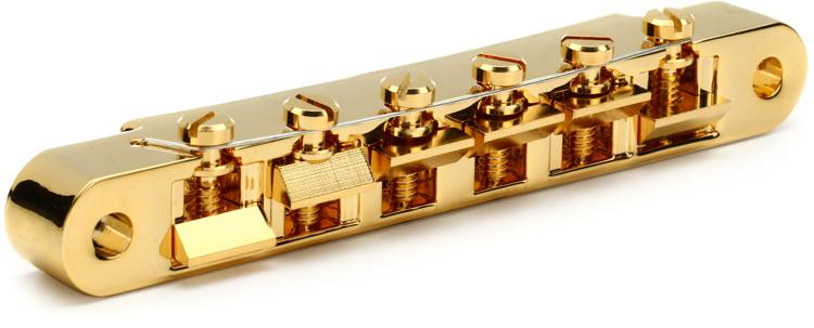 Gibson Accessories ABR-1 Tune-O-Matic Bridge w/Full Assembly - Gold image 1