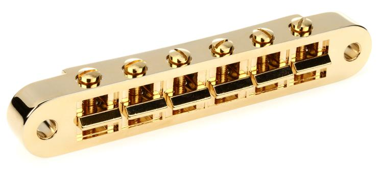 Gibson Accessories Nashville Tune-O-Matic Bridge w/Full Assembly - Gold image 1