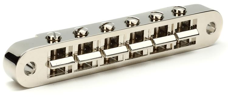 Gibson Accessories Nashville Tune-O-Matic Bridge w/Full Assembly - Nickel image 1