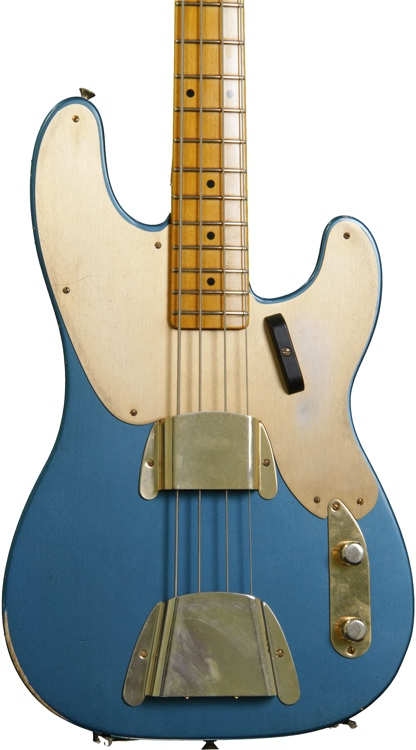 Fender Custom Shop 1951 Relic Precision Bass - Aged Lake Placid Blue image 1