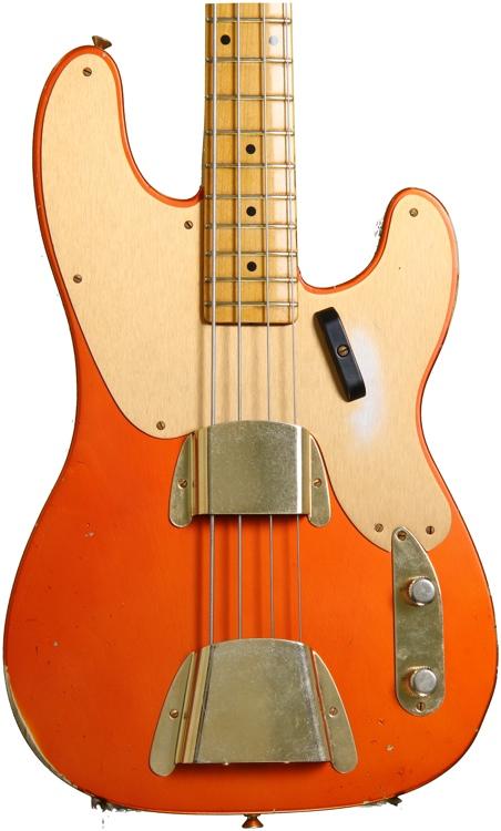 Fender Custom Shop 1951 Relic Precision Bass - Candy Tangerine image 1