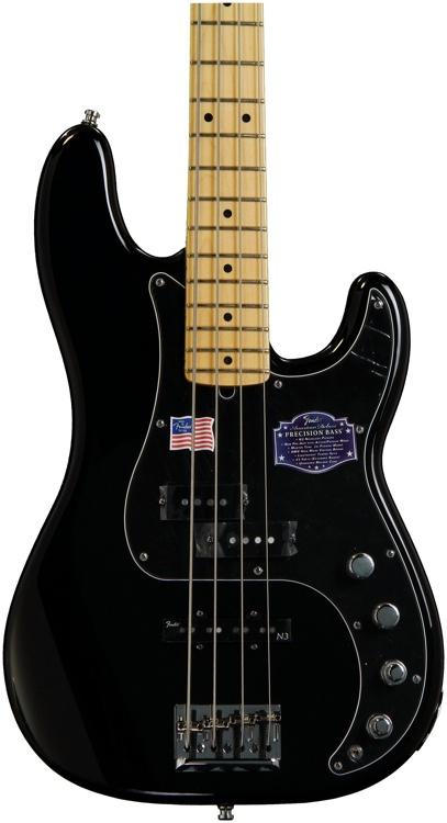 Fender American Deluxe Precision Bass - Black image 1