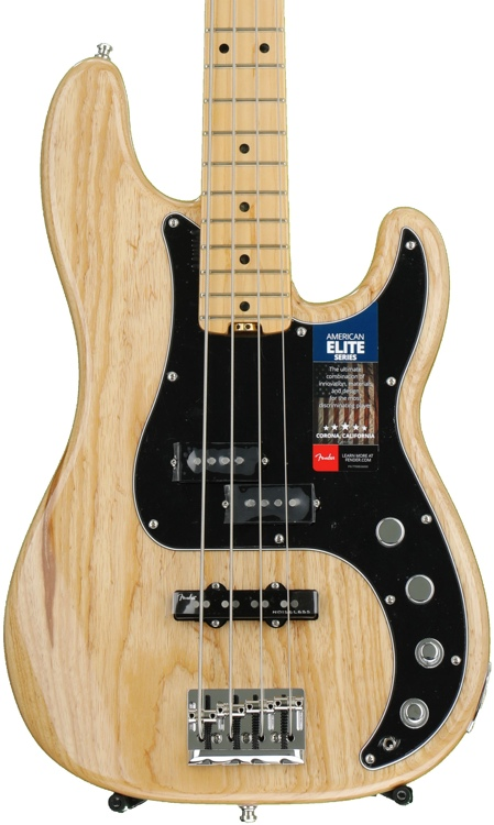 Fender American Elite Precision Bass - Natural, Maple Fingerboard image 1