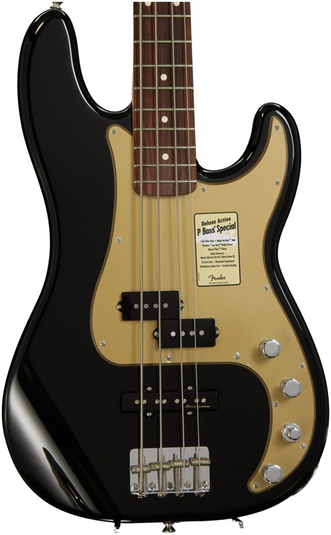 Fender Deluxe Active P Bass Special - Black image 1