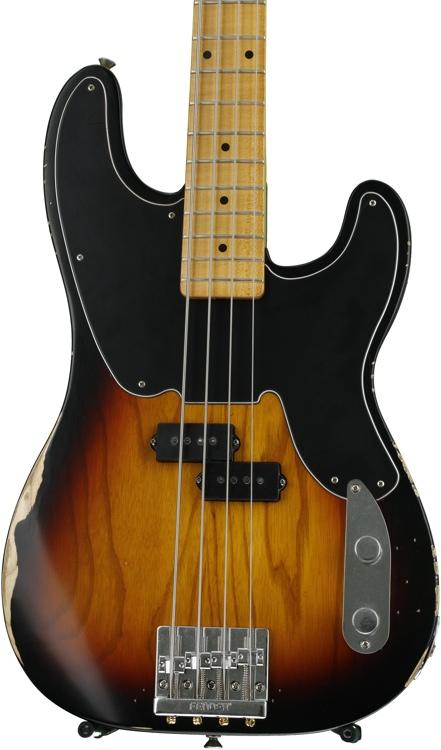 Fender Mike Dirnt Road Worn Precision Bass - 3-Color Sunburst image 1