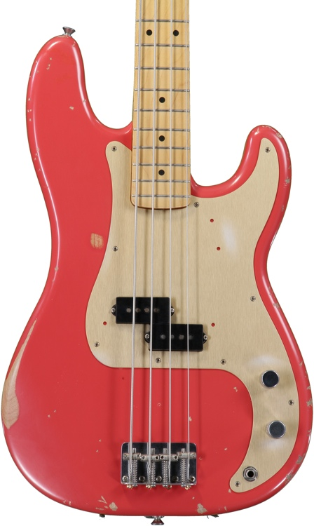 Fender Road Worn \'50s Precision Bass - Fiesta Red image 1