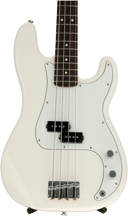 Fender Standard Precision Bass - Arctic White with Rosewood Fingerboard image 1