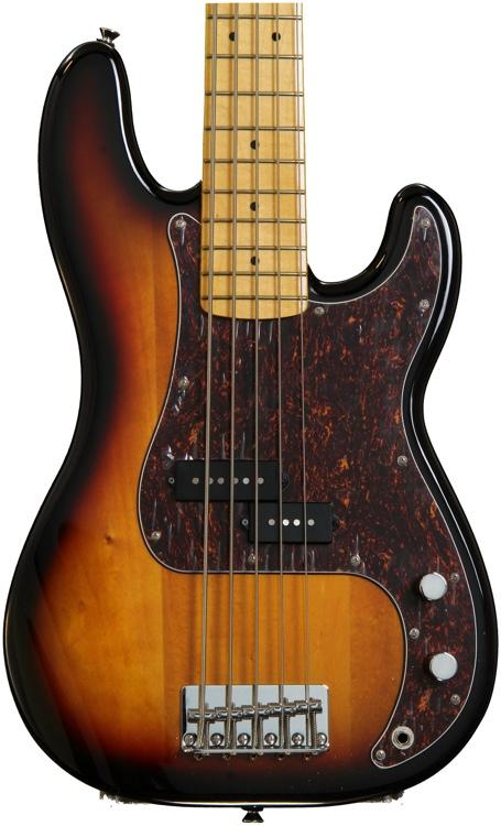 Squier Vintage Modified P Bass V - 3-Color Sunburst image 1