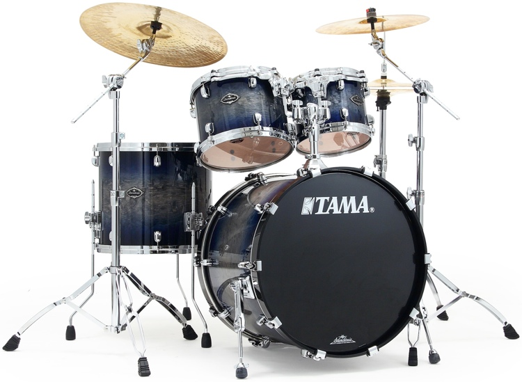 Tama Starclassic Performer B/B Shell Pack - 4-Piece Smokey Indigo Burst image 1