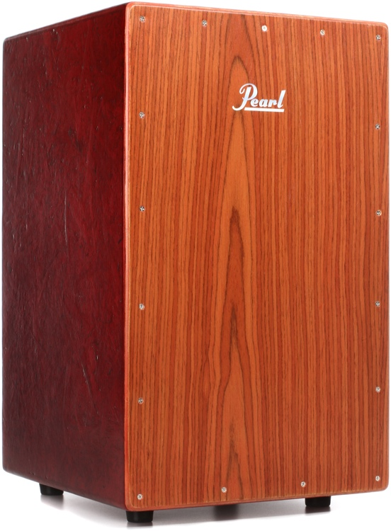 Pearl Eco-Acoustic Cajon - Red w/Brown Faceplate image 1