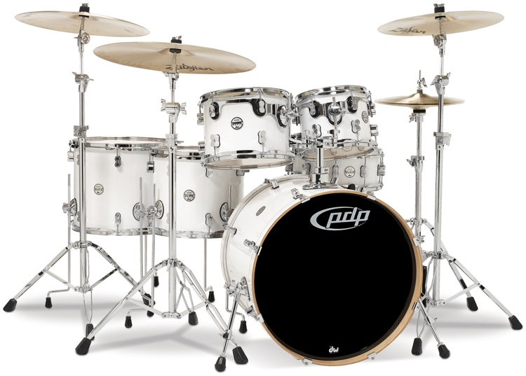 PDP Concept Maple Shell Pack - 6-piece - Pearlescent White image 1