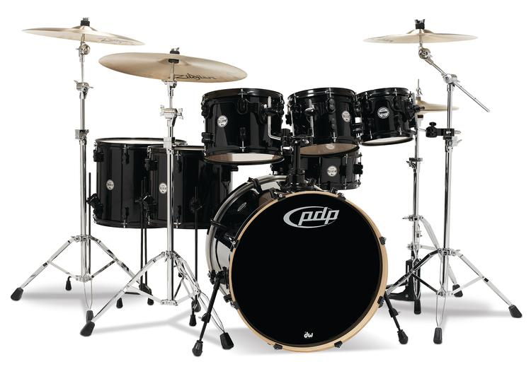 PDP Concept Maple Shell Pack - 7-Piece - Pearlescent Black image 1