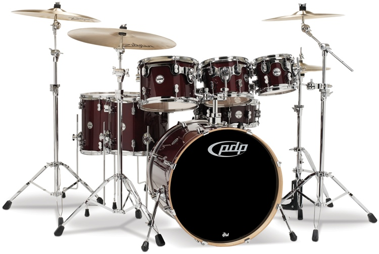 PDP Concept Maple Shell Pack - 7-Piece - Transparent Cherry image 1
