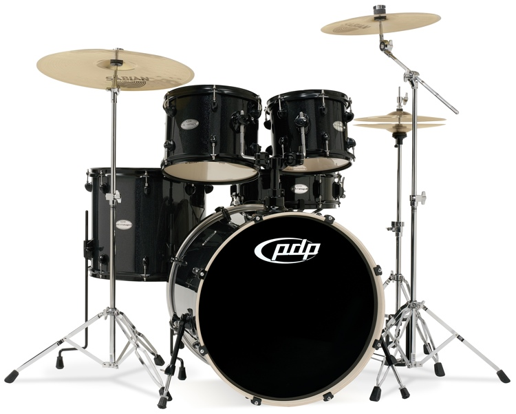 PDP Mainstage Complete Drum Kit - Black Metallic image 1