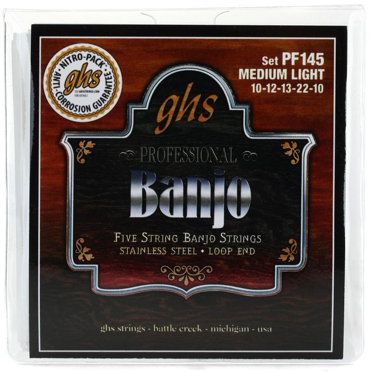 GHS PF145 Stainless Steel 5-String Banjo Strings - .010-.022 image 1