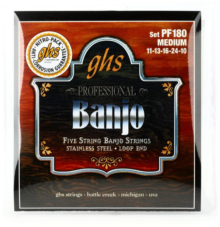 GHS PF180 Stainless Steel 5-String Banjo Strings - .011-.024 image 1