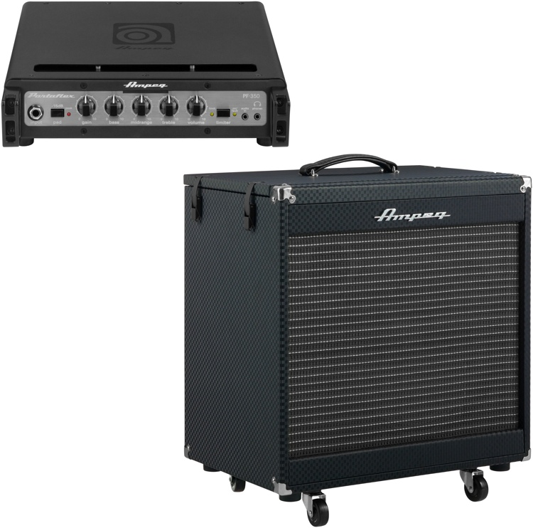 Ampeg Portaflex PF-350 Head and PF210 Cabinet Stack image 1