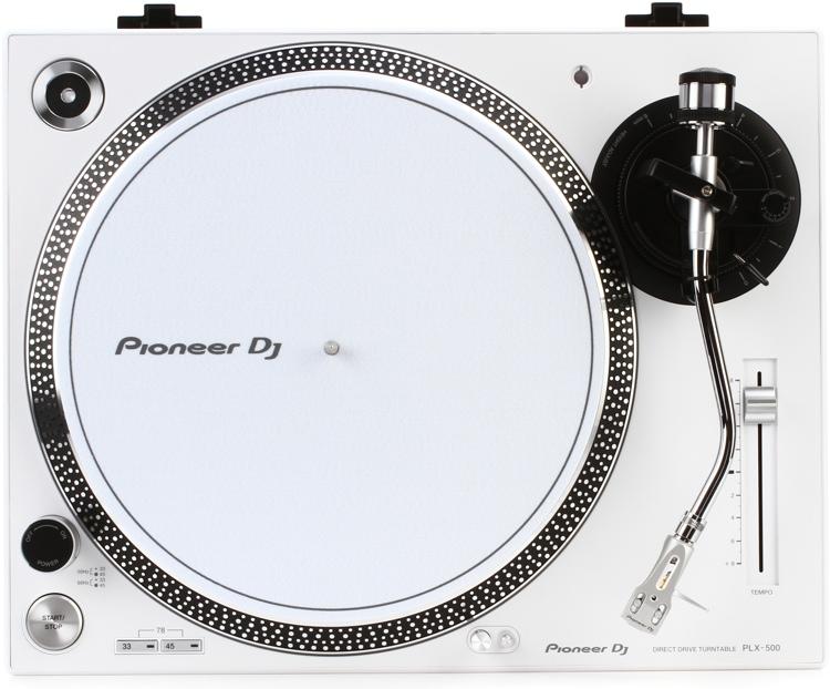 Pioneer DJ PLX-500 Direct Drive Turntable - White image 1
