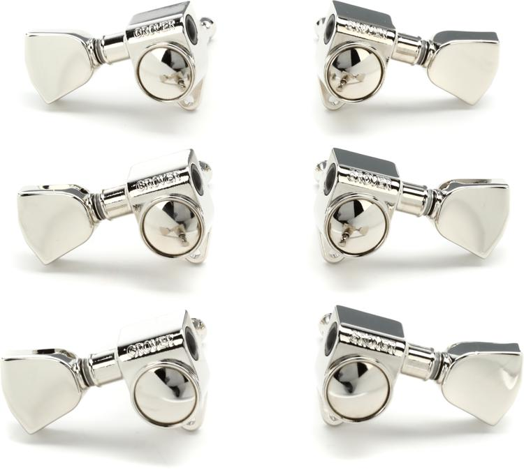 Gibson Accessories Modern Tuning Machine Heads - Nickel w/Metal Buttons image 1
