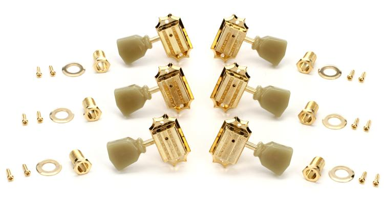 Gibson Accessories Vintage Tuning Machine Heads - Gold w/Pearloid Buttons image 1