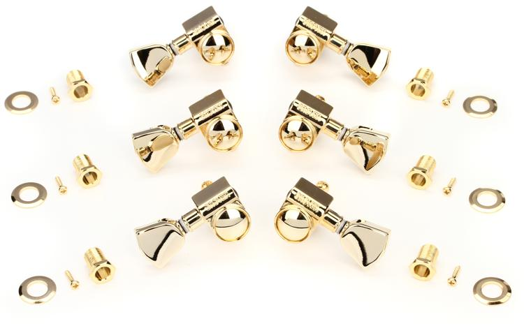Gibson Accessories Modern Tuning Machine Heads - Gold w/Metal Buttons image 1