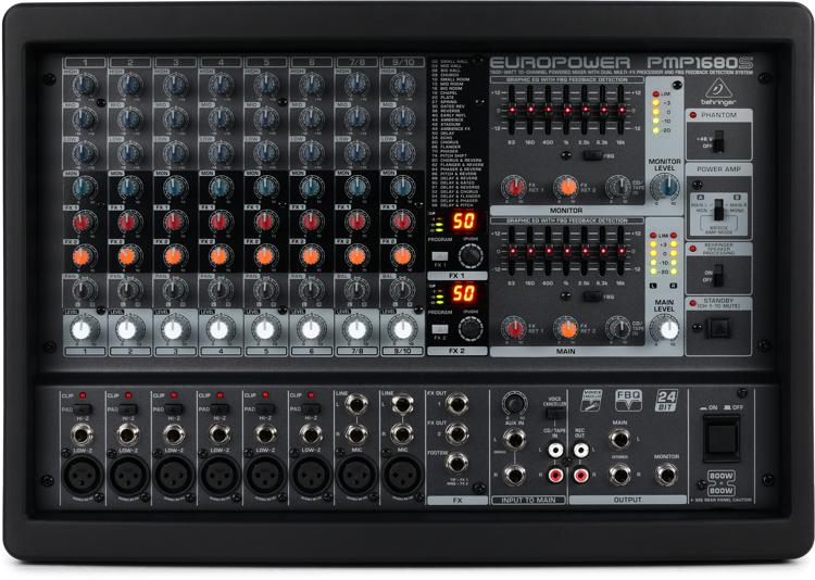 Behringer Europower PMP1680S 10-channel 1600W Powered Mixer image 1