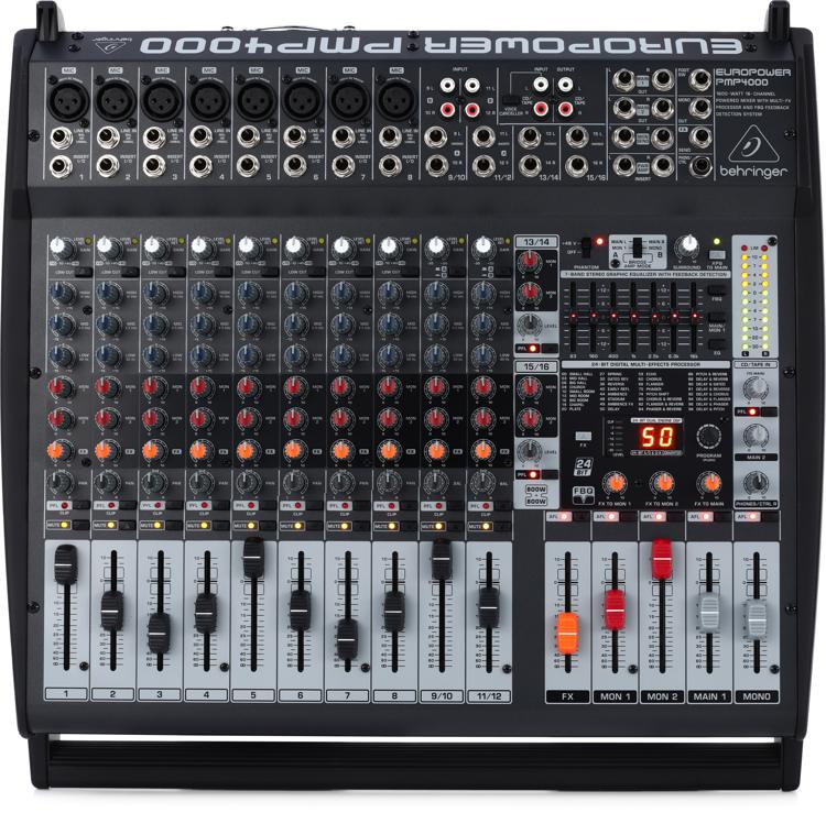Behringer Europower Pmp4000 16 Channel 1600w Powered Mixer