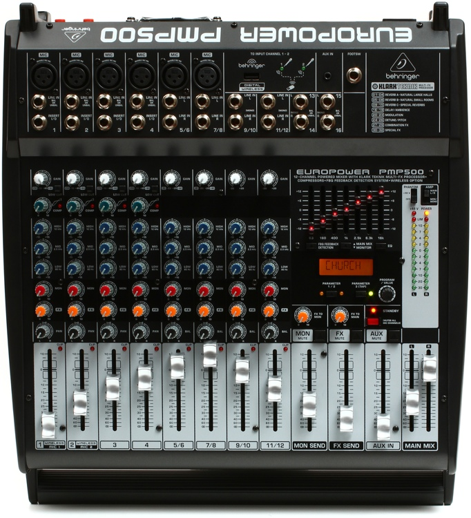 Behringer Europower PMP500 12-channel 500W Powered Mixer image 1