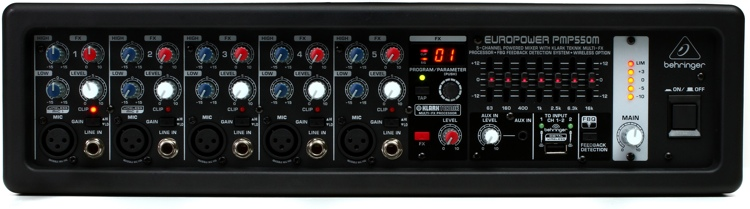 Behringer Europower PMP550M 5-channel 500W Powered Mixer image 1