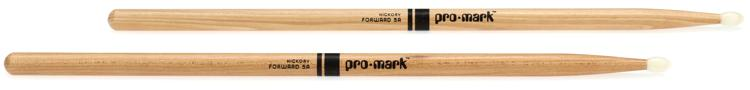 Promark TX5AN 5A Nylon Tip Hickory Drumsticks image 1