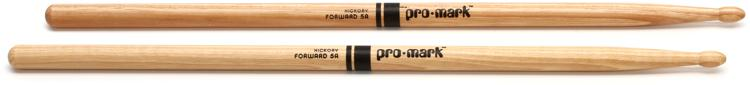 Promark TX5AW 5A Wood Tip Hickory Drumsticks image 1