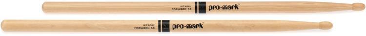 Promark TX5BW 5B Wood Tip Hickory Drumsticks image 1