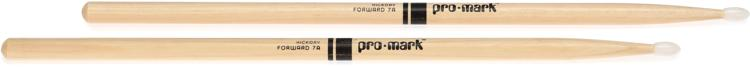 Promark TX7AN 7A Nylon Tip Hickory Drumsticks image 1