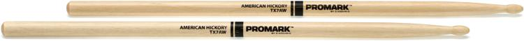 Promark TX7AW 7A Wood Tip Hickory Drumsticks image 1
